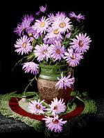 پکیج آموزش قالیبافی طرح گل بنفش