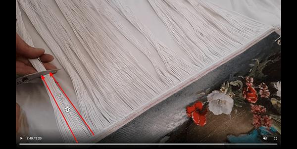آموزش جدا کردن تابلو فرش از دارقالی-4