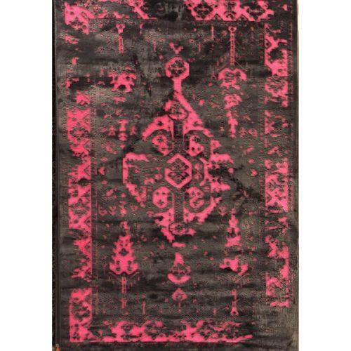 فرش ماشینی طرح پتینه کد 2018 زمینه قرمز