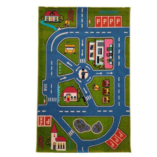 فرش ماشینی فرش مارکت تریتا مدل عروسکی اتاق کودک خیابان کد fm 500 91037